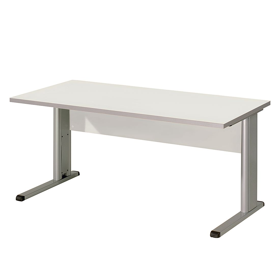 Table de bureau Kirk IV - Gris clair - Plateau de table : 80 x 80 cm, Wellemöbel