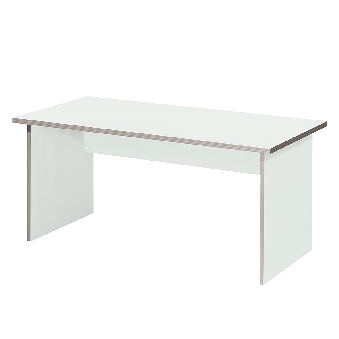 Table de bureau Kirk volts - Gris clair - Plateau de table : 80 x 80 cm, Wellemöbel