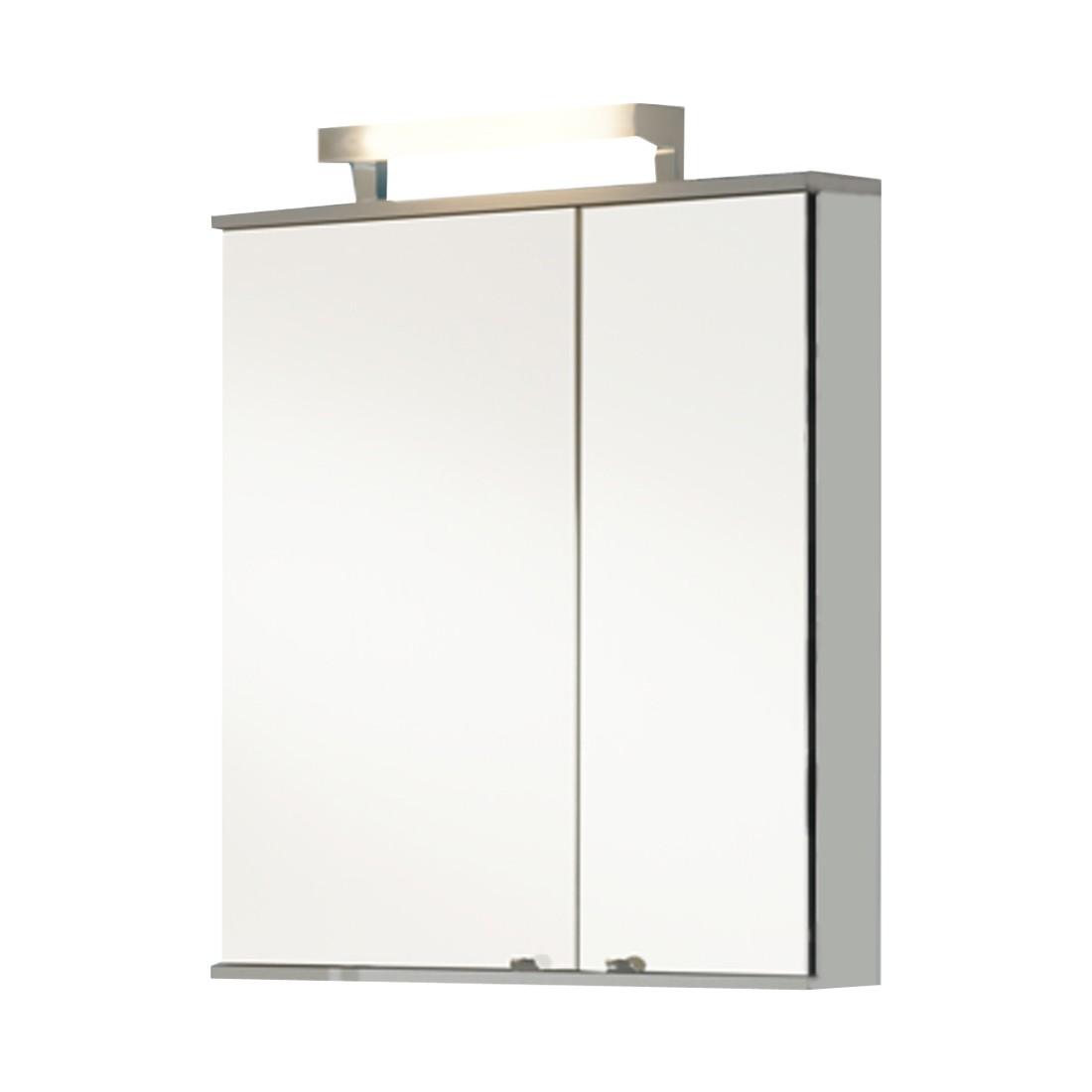 energie  A+, Spiegelkast Treviso - aluminiumkleurig, Kesper Badmöbel