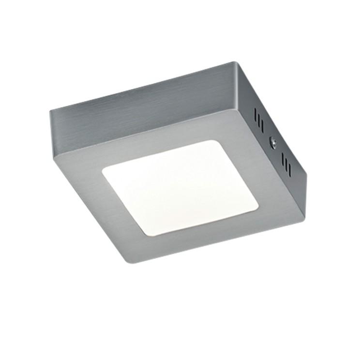 energie  A+, LED-plafondlamp Zeus - plexiglas/aluminium - 1 lichtbron - 12 - Aluminiumkleurig/wit, Trio
