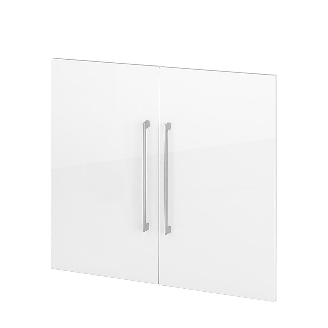 Home 24 - Paire de portes zeta (hauteur : 71 cm) - blanc, home24 office