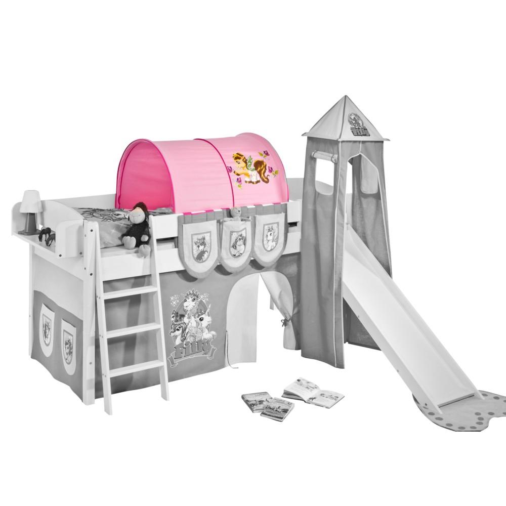 Home 24 - Tunnel filly - pour lit mezzanine ludique ou lits superposés, lilokids