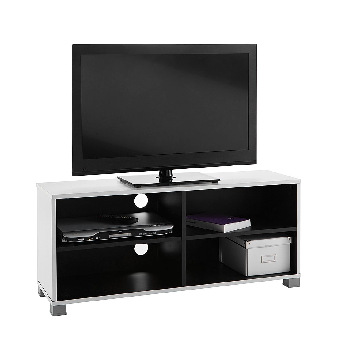 Scrapeo meuble tv noir blanc for Meuble tv jeffrey