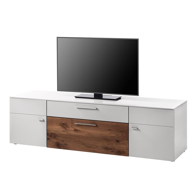 TV-Lowboard Anzio I - Matt Weiß / Astnussbaum