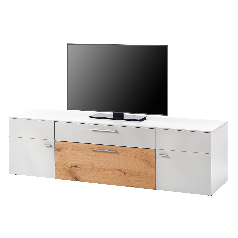 TV-Lowboard Anzio I - Matt Weiß / Balkeneiche