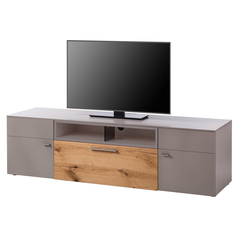 Meuble TV Anzio II - Mat fango / Chêne de poutre, Netfurn by GWINNER