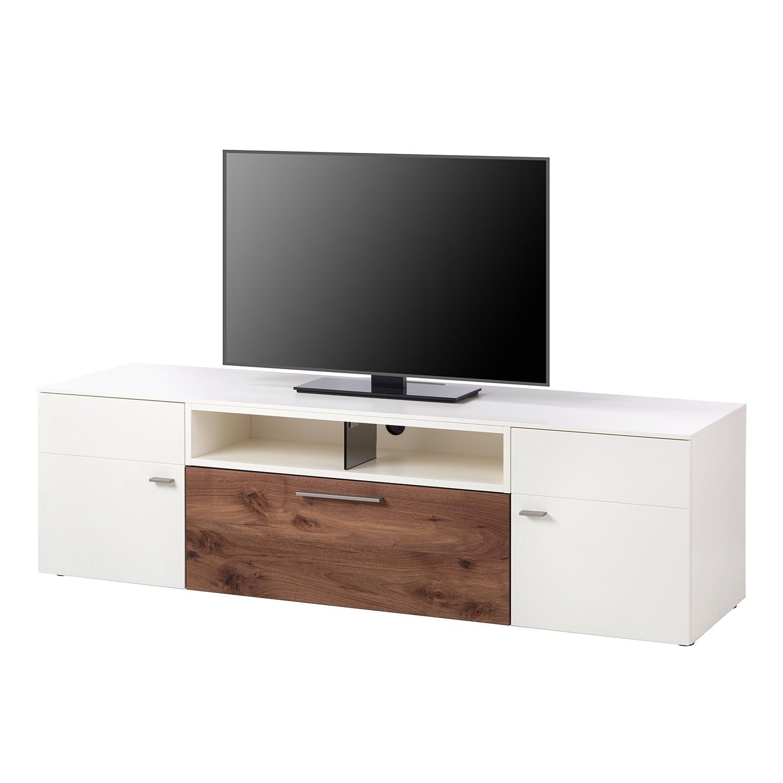 TV-Lowboard Anzio II - Matt Weiß / Astnussbaum