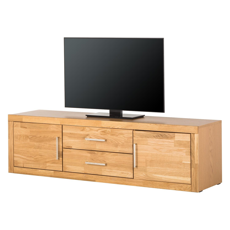 Home 24 - Meuble tv bernitt ii - chêne partiellement massif, modoform