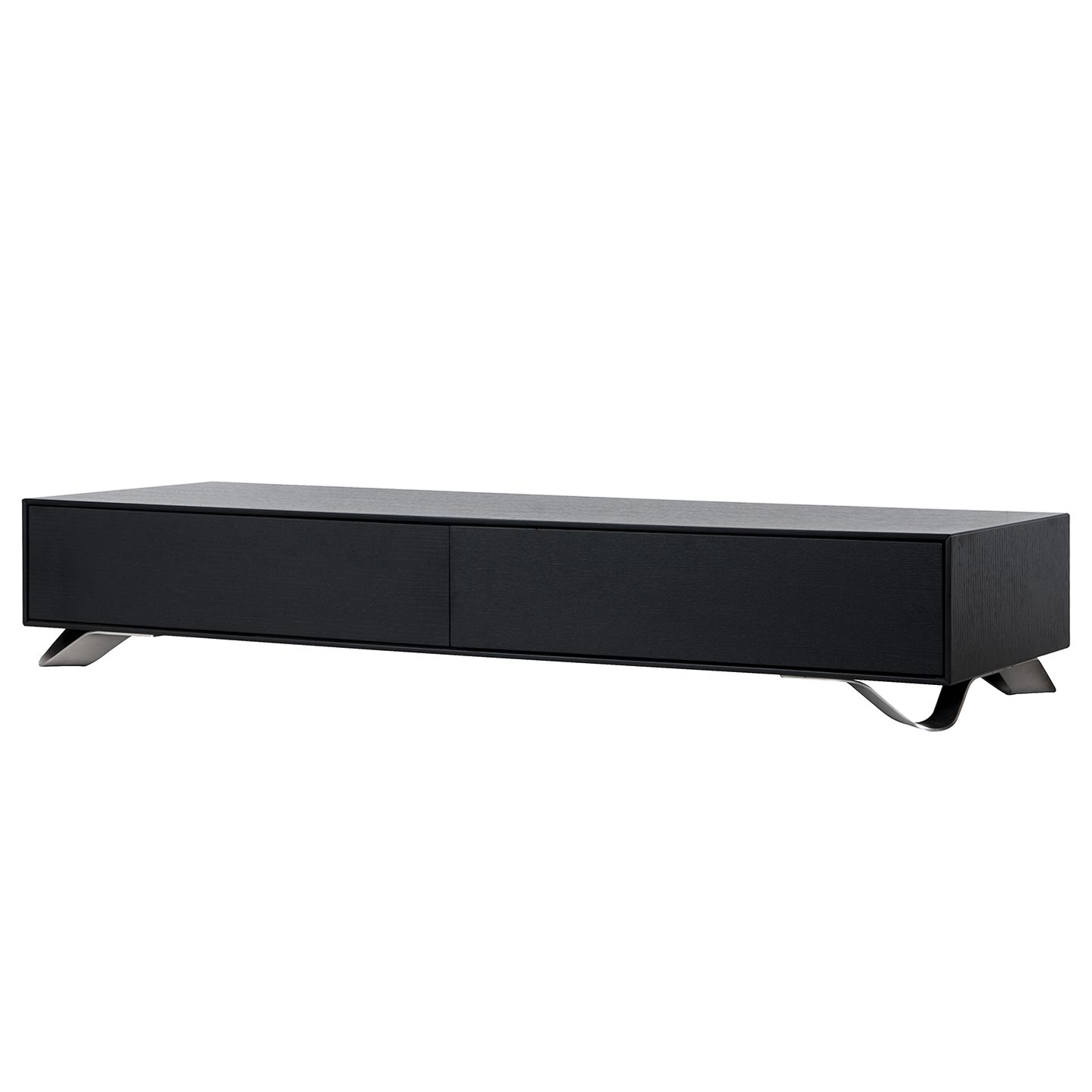 tv lowboard boomerang ii schwarz studio copenhagen online kaufen. Black Bedroom Furniture Sets. Home Design Ideas