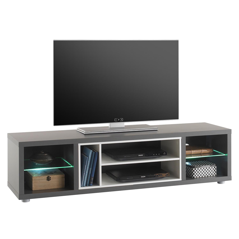 EEK A+, Meuble TV Claydon I (avec éclairage) - Gris, mooved