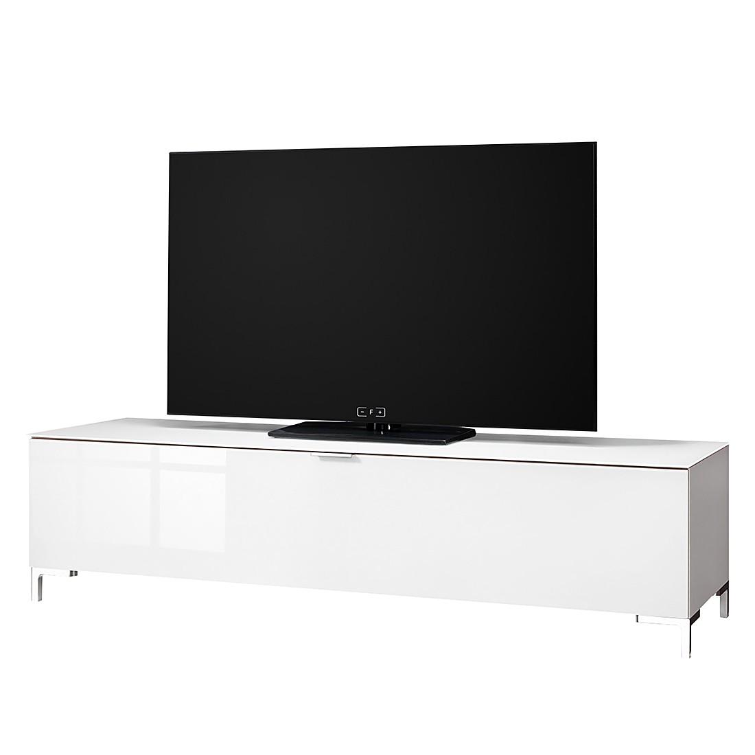 Meuble TV Cleo II - Blanc Pieds en chrome, Cs Schmal