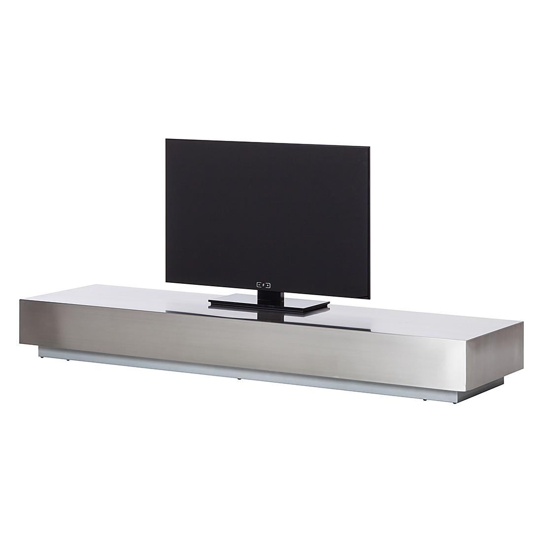 Tv-meubel Crown - geborsteld zilverkleurig roestvrij staal, Fredriks