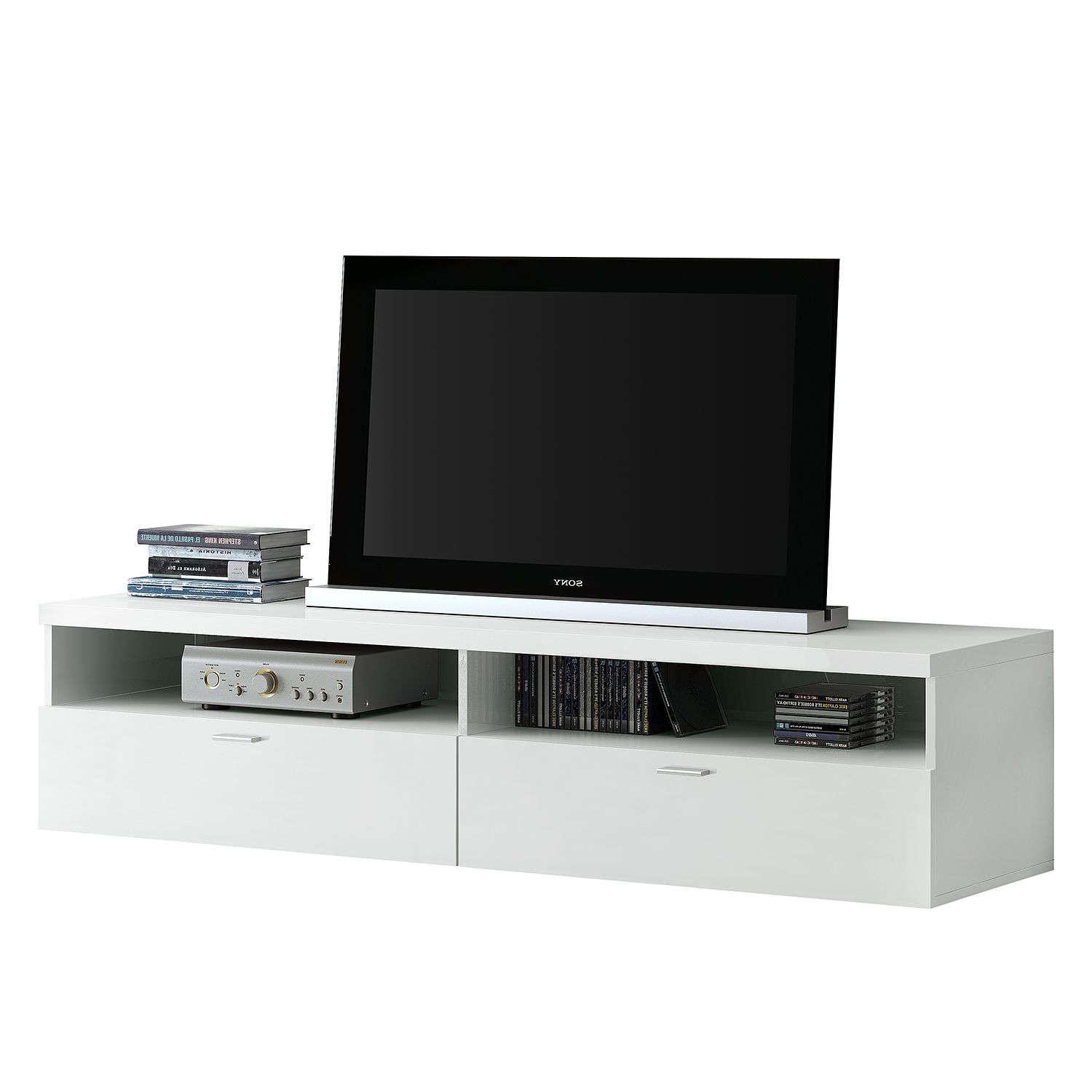 Home 24 - Meuble tv emporior - blanc - blanc, fredriks