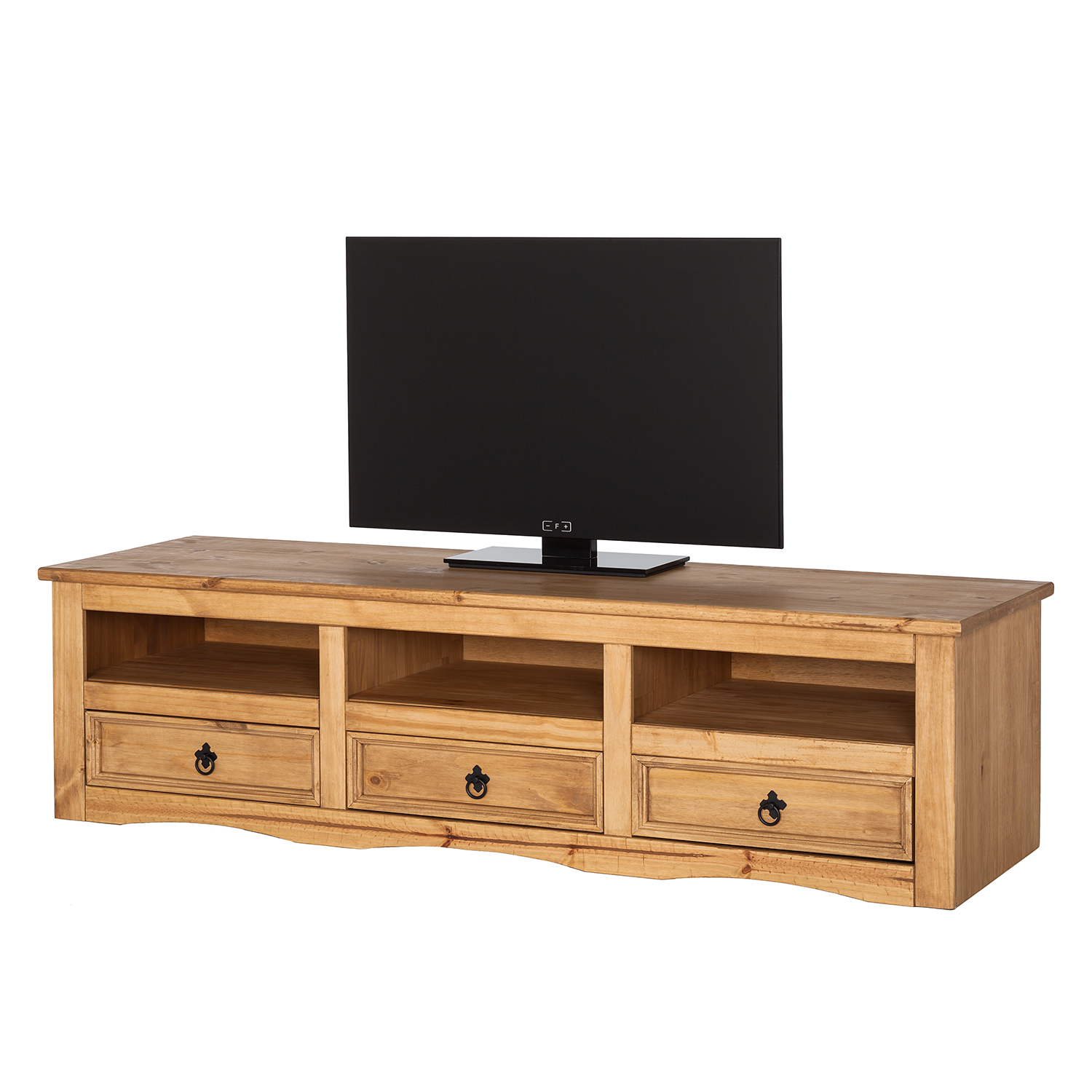 tv lowboard finca rustica ii kiefer massiv kiefer tv board schrank tisch regal 4053647126349 ebay. Black Bedroom Furniture Sets. Home Design Ideas