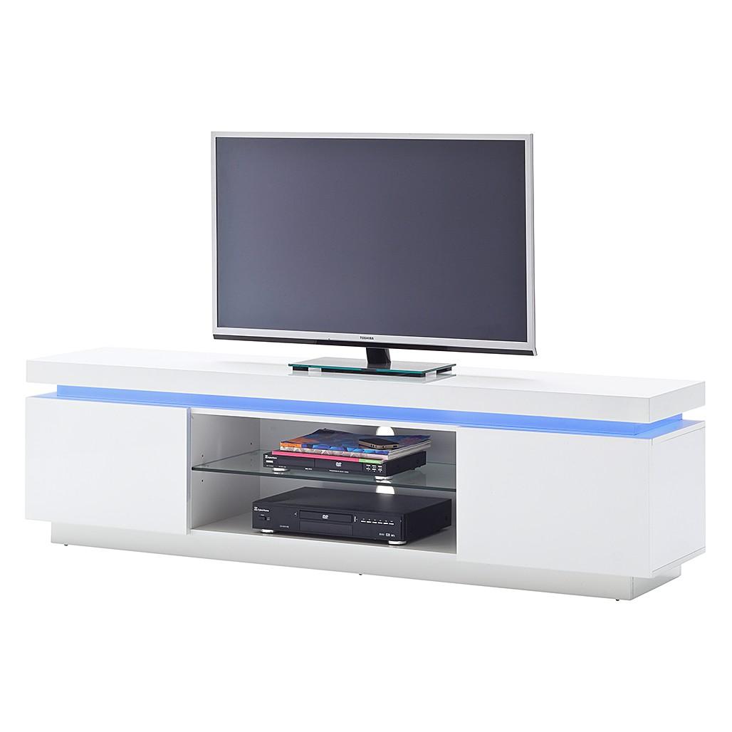 EEK A+, Meuble TV Emblaze I (éclairage fourni) - Blanc brillant, Fredriks