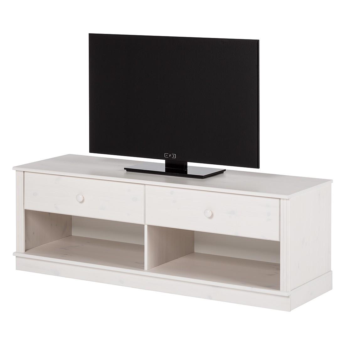Home 24 - Meuble tv lillehammer i - pin massif - epicéa blanc, maison belfort