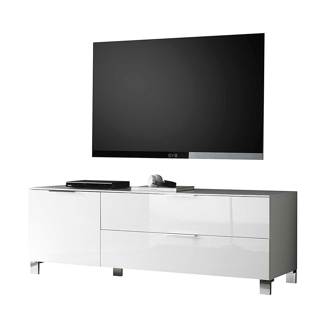 tv lowboard margherita i hochglanz wei lc mobili. Black Bedroom Furniture Sets. Home Design Ideas