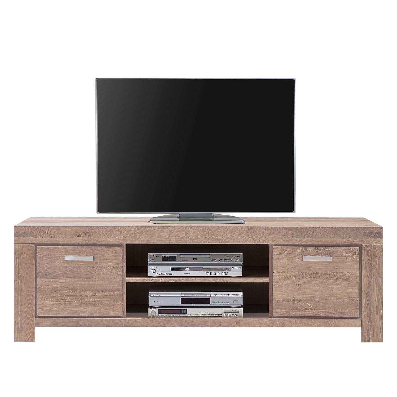 Meuble TV Massino III - Chêne sauvage massif Bianco - 175 cm, Lars Larson