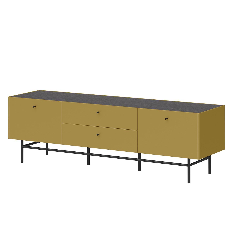 TV-Lowboard Monteo III - Olivgelb / Schiefer