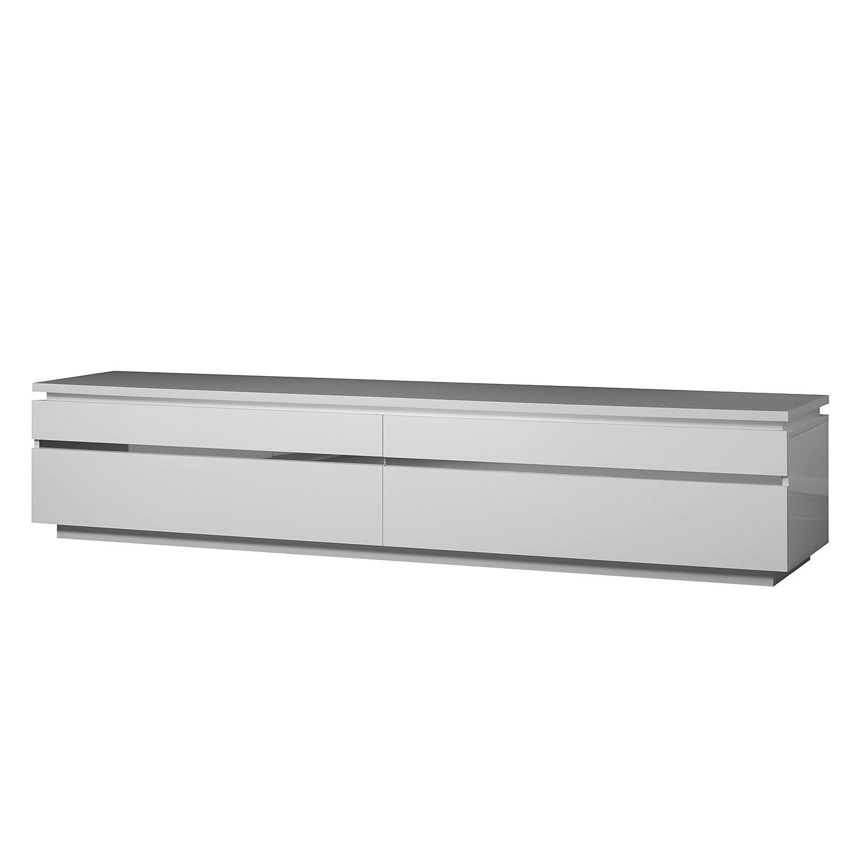 TV-Lowboard Electra - Weiß / Chrom, Sciae