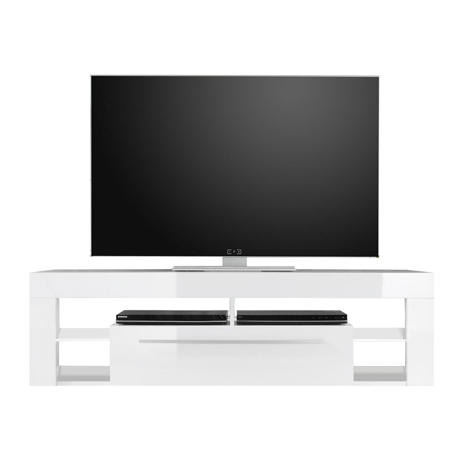 Meuble TV Paxton I - Blanc brillant, Trendteam