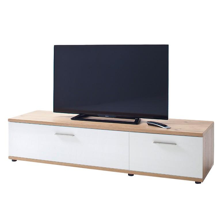 TV-Lowboard Serrata II - Matt Weiß / Risseiche, Fredriks