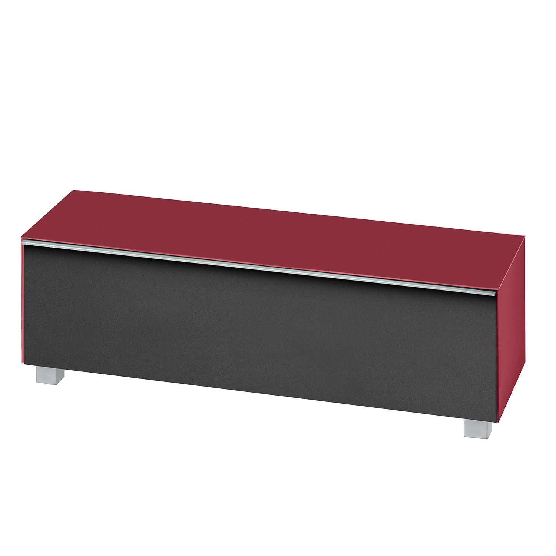 Meuble TV Soundconcept I - Rouge cerise mat - 140 cm, Maja Möbel