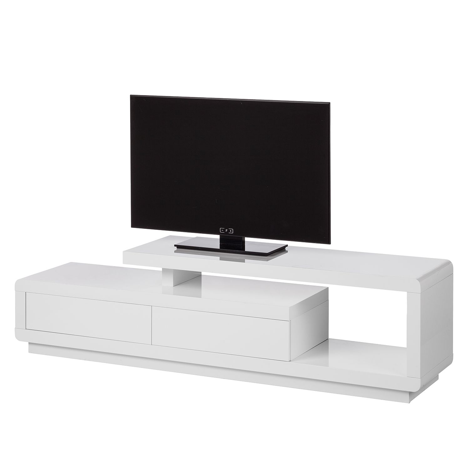 Meuble TV t-vision - Blanc brillant - 170 cm, Fredriks