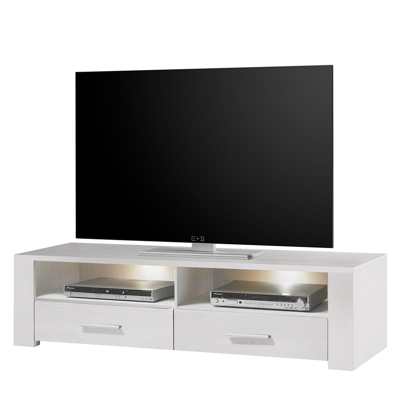 energie  A+, Tv-lowboard Taila I (inclusief verlichting) - wit Siberisch larikshoutkleurig, loftscape