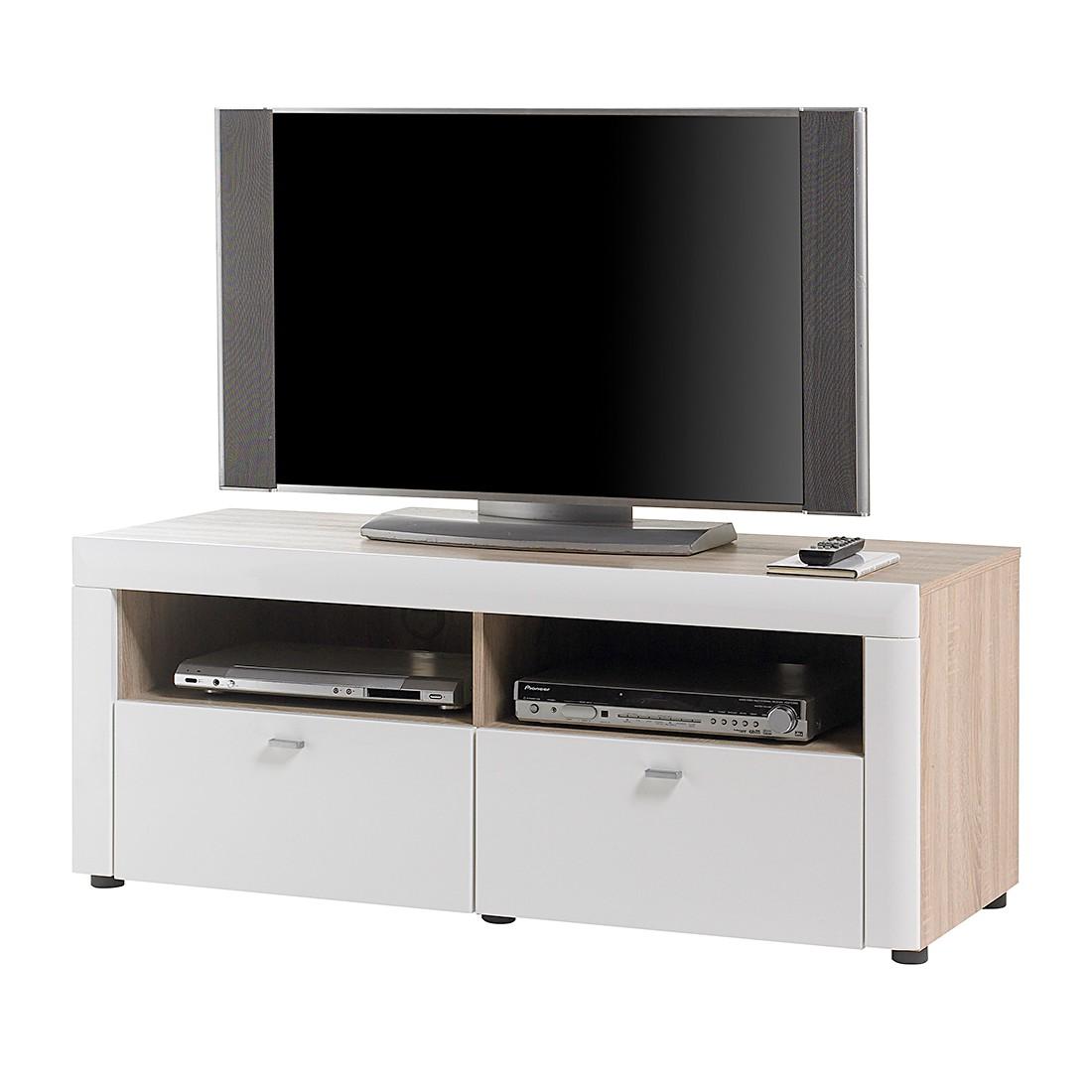 Lowboard Weiß Hochglanz Preisvergleich • Die besten  -> Tv Lowboard Eiche Sonoma