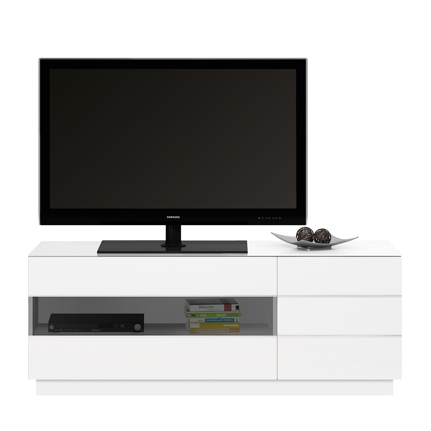 Meuble TV TL 6153 - Blanc brillant, Jahnke