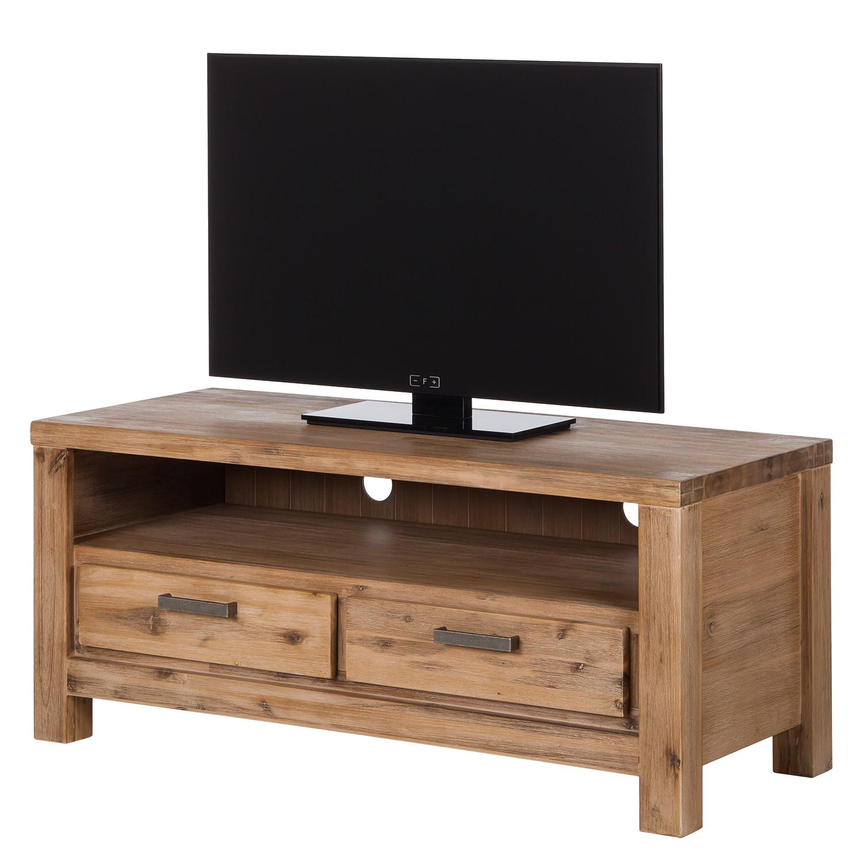 Meuble TV Toumanar I - Partiellement en acacia massif - Acacia sable, ars manufacti