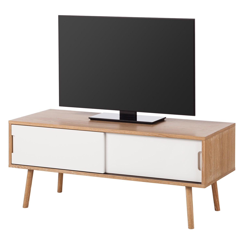 Meuble TV Verwood II - Chêne / Blanc, Studio Copenhagen