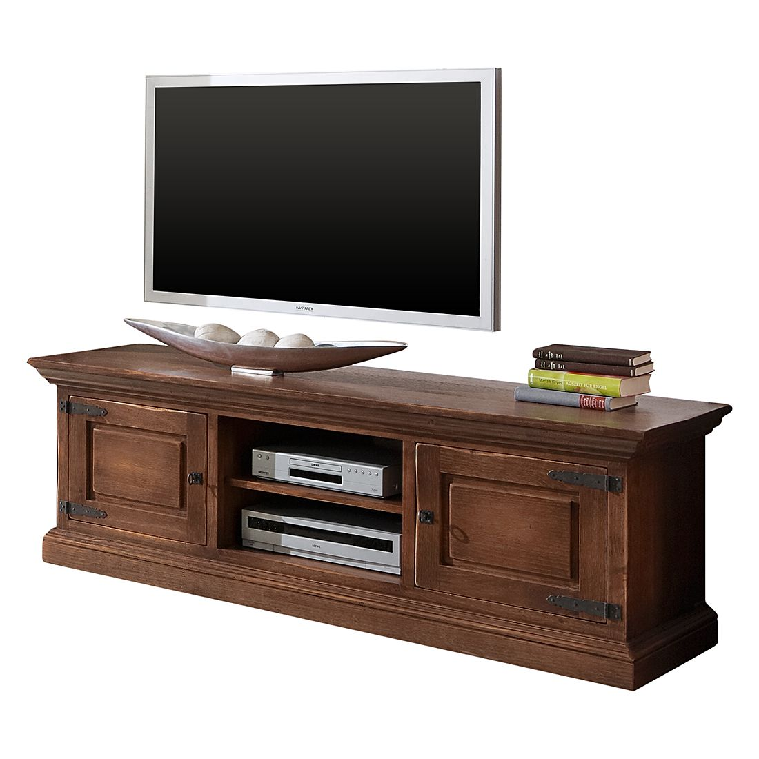 Meuble TV Vicuna - Pin massif - Marron - 164 cm, Landhaus Classic
