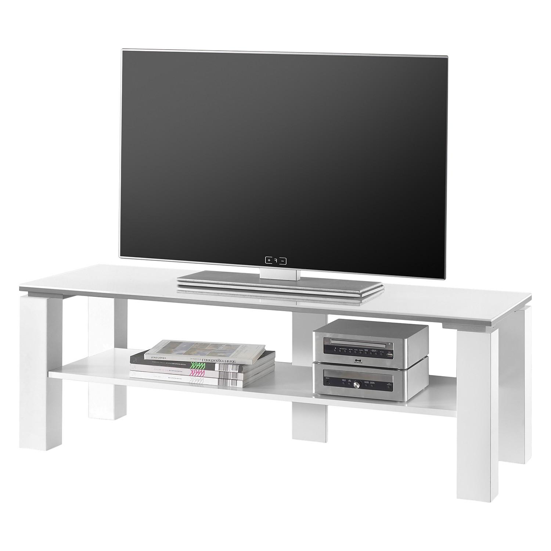 TV-Lowboard Vidora - Hochglanz Weiß, mooved