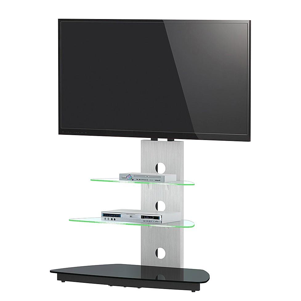 Supporto TV CU-MR 50 (inclusivo di illuminazione) - Alluminio/Vetro, Jahnke