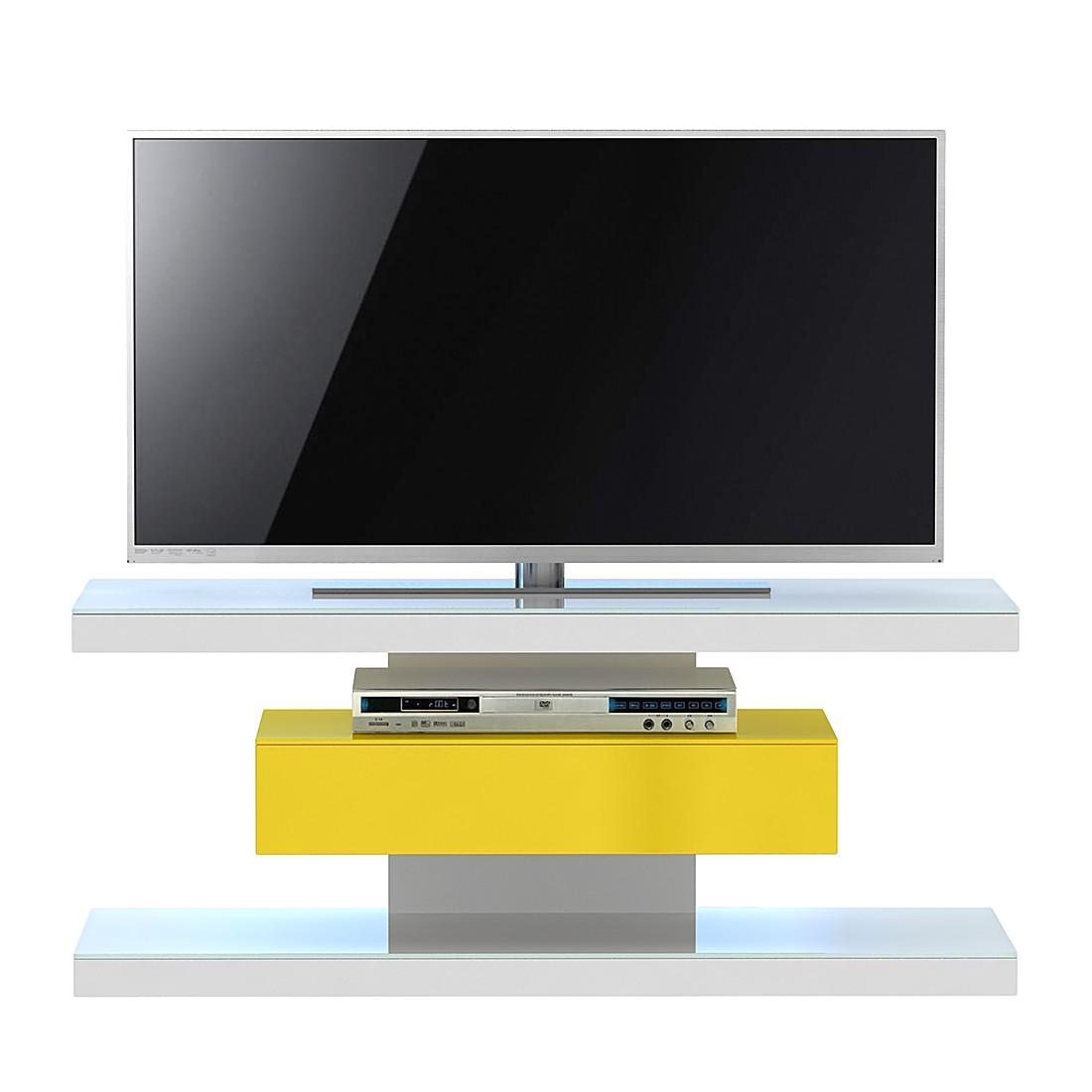TV-Rack SL 610 - Weiß / Gelb, Jahnke