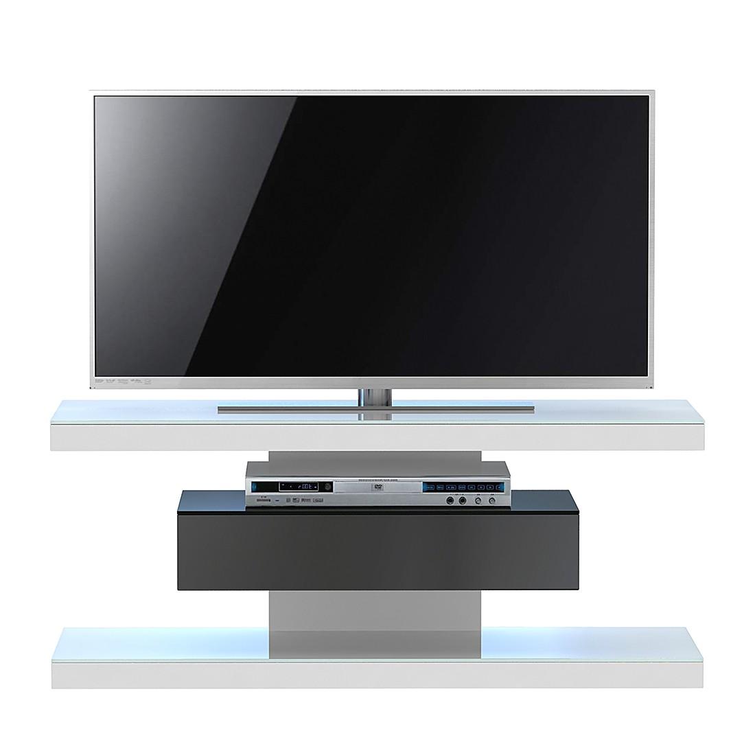 Meuble TV SL 610 - Blanc / Noir, Jahnke