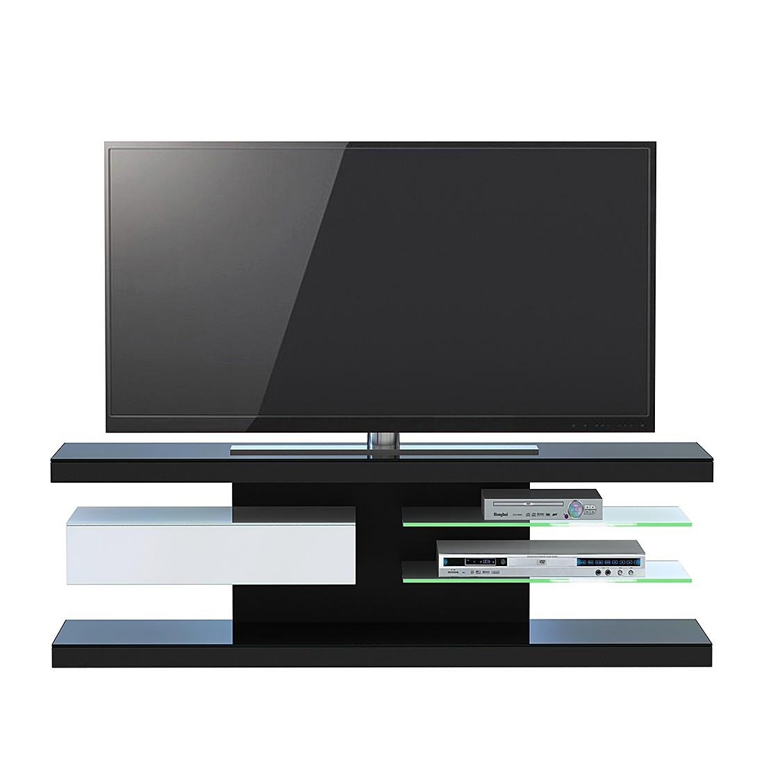 TV-Rack SL 660 - Schwarz / Weiß, Jahnke