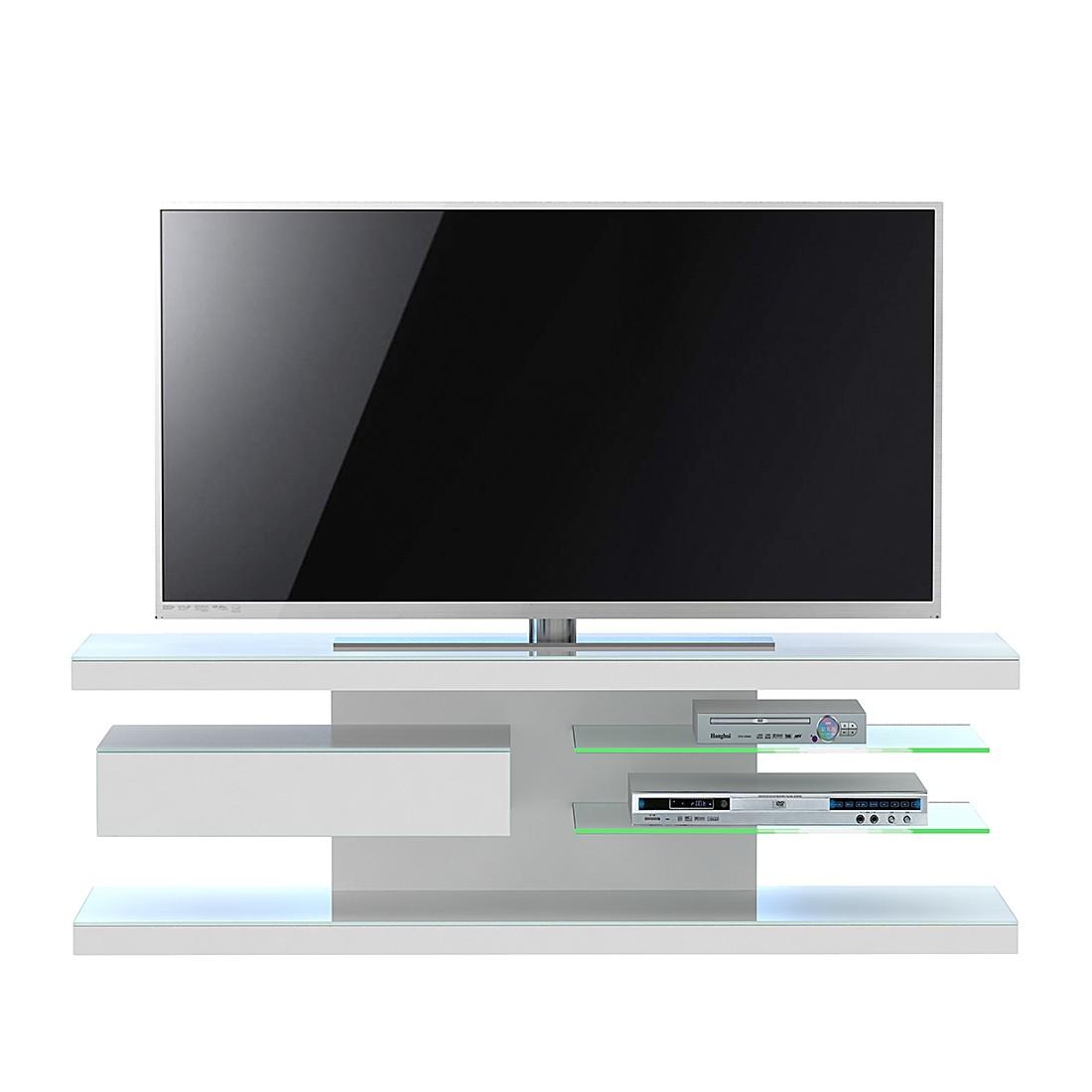 Meuble TV SL 660 - Avec éclairage - Blanc mat, Jahnke