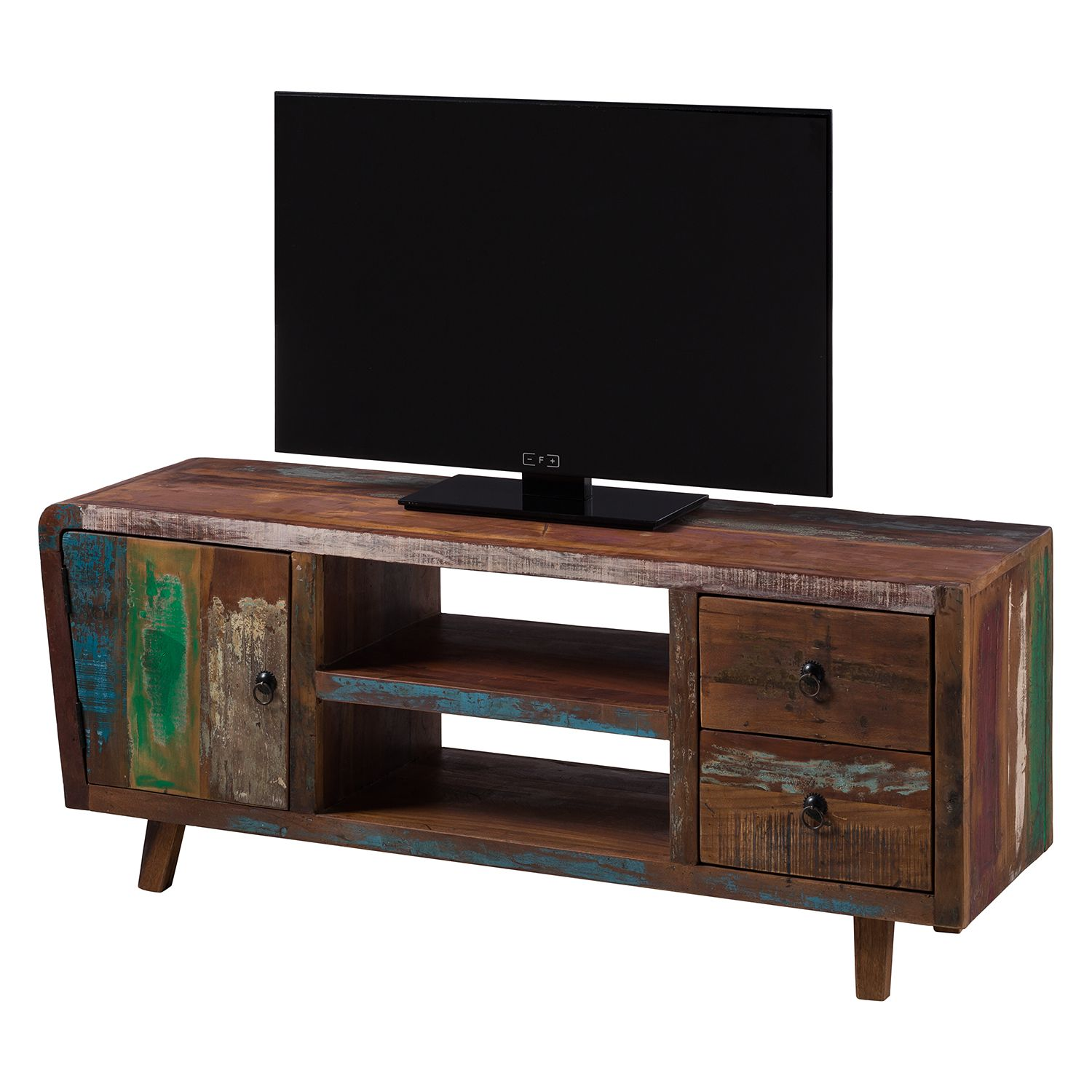 meuble tv yazoo bois recycl massif multicolore ars. Black Bedroom Furniture Sets. Home Design Ideas