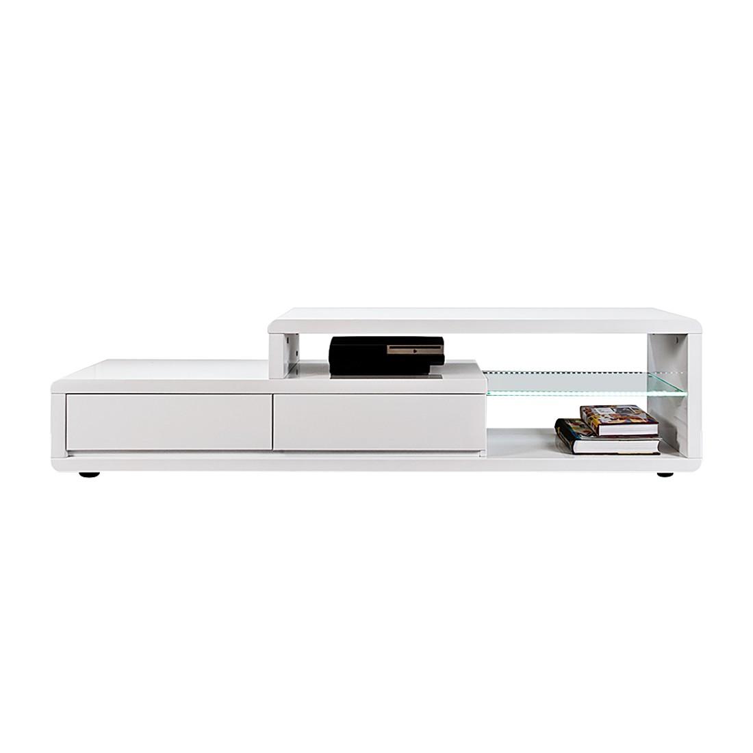 energia A+, Tavolino TV Sono - Bianco lucido, Fredriks