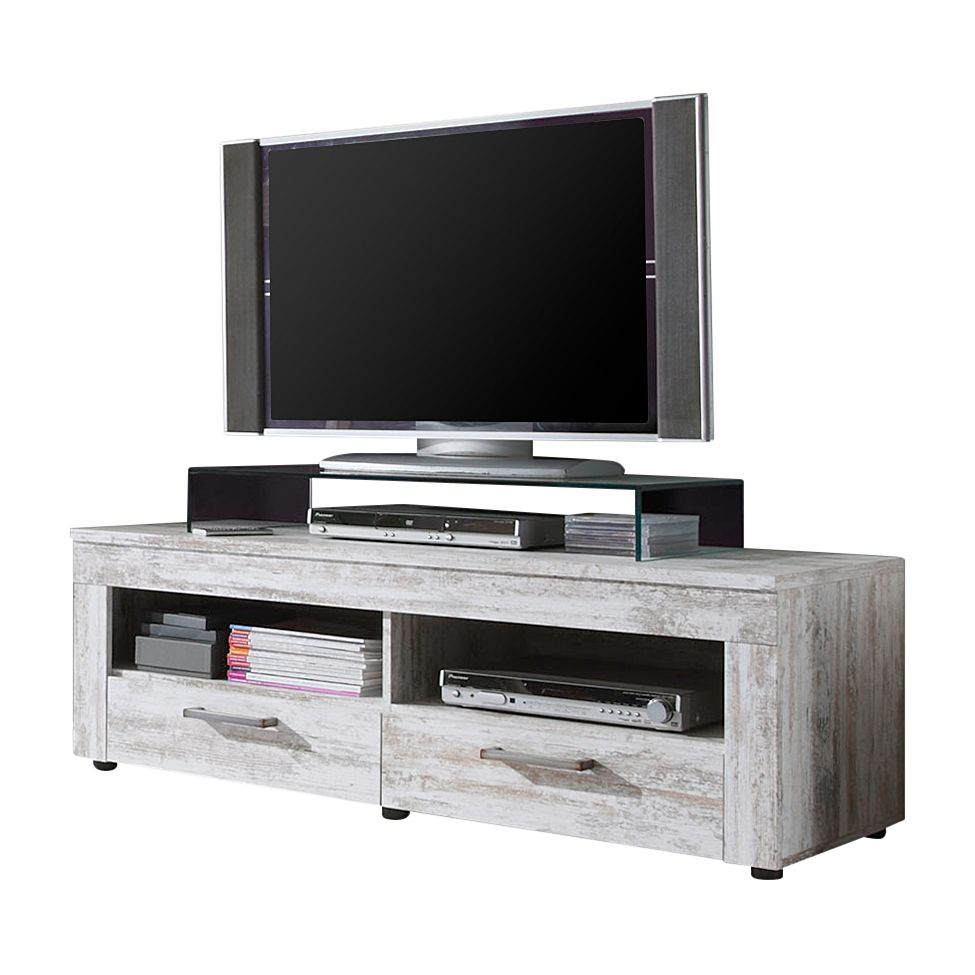 EEK A+, Meuble TV Ranya - Imitation pin canyon blanc, Trendteam
