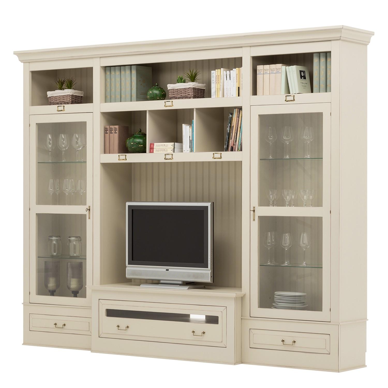Ensemble de meubles TV Azjana I - Partiellement en pin massif - Beige clair - Sans échelle, Maison B
