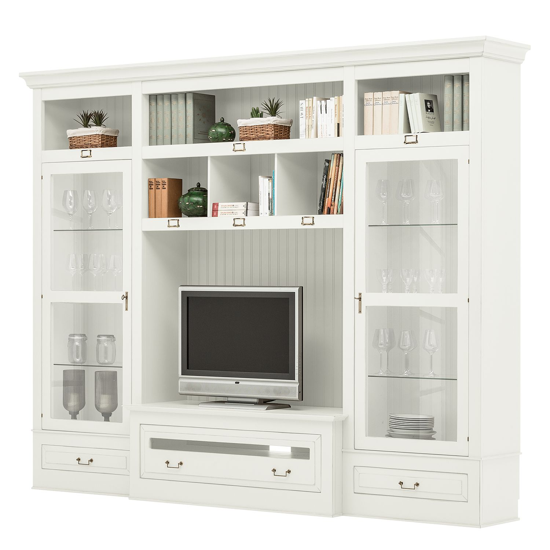 tv wand azjana ii pinie teilmassiv pinie wei lackiert. Black Bedroom Furniture Sets. Home Design Ideas