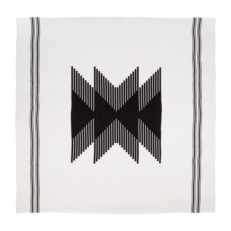 Image of Copriletto Hourglass - tessuto - nero / bianco - 200 x 200 cm, Eva Padberg Collection