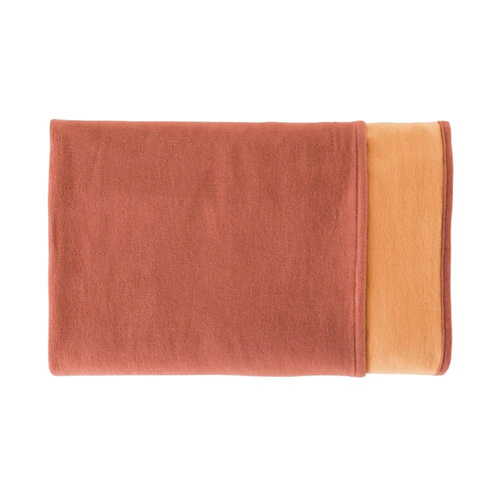 Effen katoenen deken Cotton Pur - Terracotta, Ibena