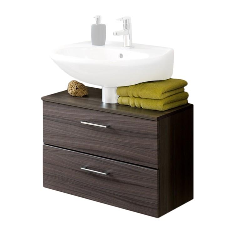 Armadietto da lavabo Well-ness - Effetto quercia scura, Giessbach