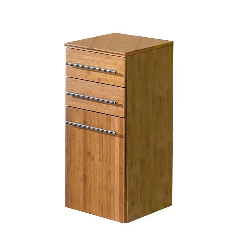 Armadietto Bern - 1 anta - Bambù laccato naturale, Schildmeyer