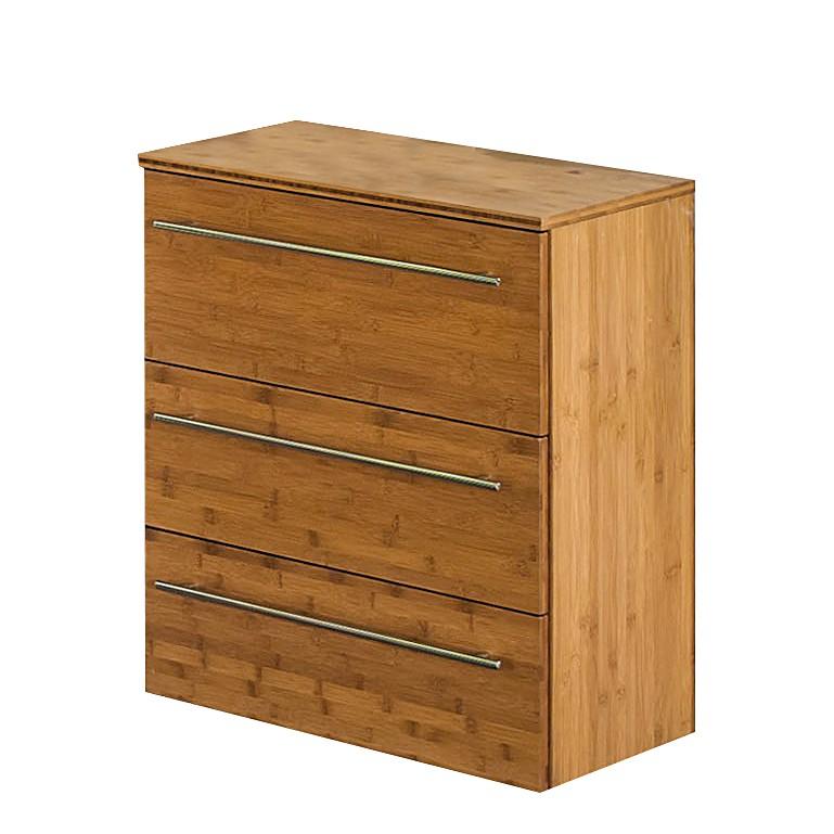 Armadietto Bern - Con 3 cassetti di bambù naturale laccato, Schildmeyer